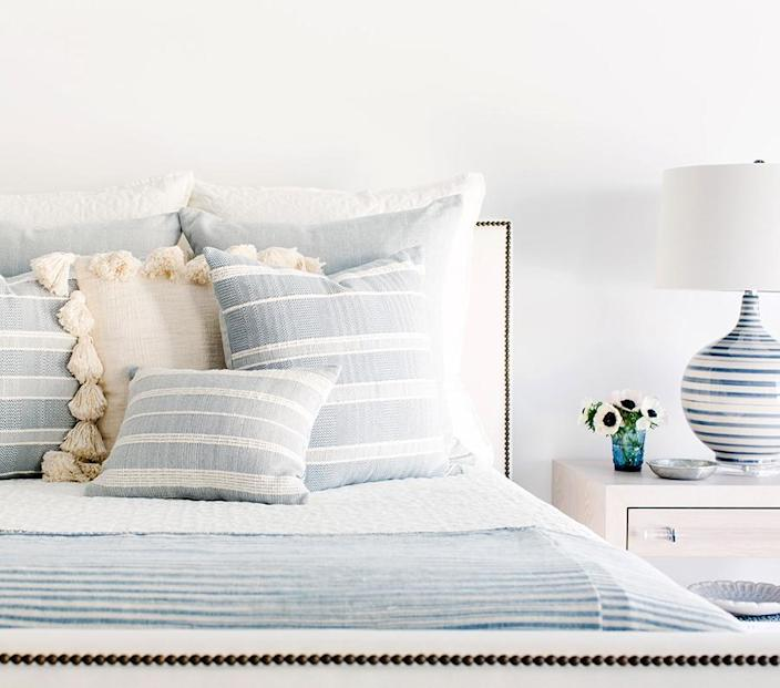 """<h3><strong>Dear Keaton</strong> </h3> <br><br><strong>Best For: Boho-Style Decor<br></strong>This lifestyle brand founded by two women around a shared love of travel, intentional living, and great design covers more than beachy, resort-style fashion — it's also a mecca for expertly curated home furnishings, decor, and gifts that radiate a dreamy, global aesthetic.<br><br><em><strong><a href=""""https://www.dearkeaton.com/"""" rel=""""nofollow noopener"""" target=""""_blank"""" data-ylk=""""slk:Shop Dear Keaton"""" class=""""link rapid-noclick-resp"""">Shop Dear Keaton</a></strong></em><br><br><strong>Dear Keaton</strong> Bari Ivory Pom Pom Pillow, $, available at <a href=""""https://go.skimresources.com/?id=30283X879131&url=https%3A%2F%2Fwww.dearkeaton.com%2Fproduct%2Fbari-ivory-pom-pom-pillow%2F"""" rel=""""nofollow noopener"""" target=""""_blank"""" data-ylk=""""slk:Dear Keaton"""" class=""""link rapid-noclick-resp"""">Dear Keaton</a><br><br><br><br>"""