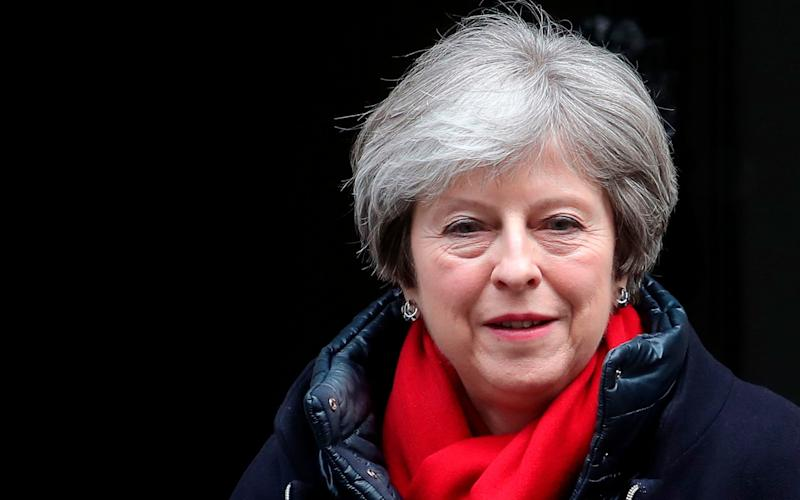 Theresa Maydelivered her message during a two-hour meeting of her inner