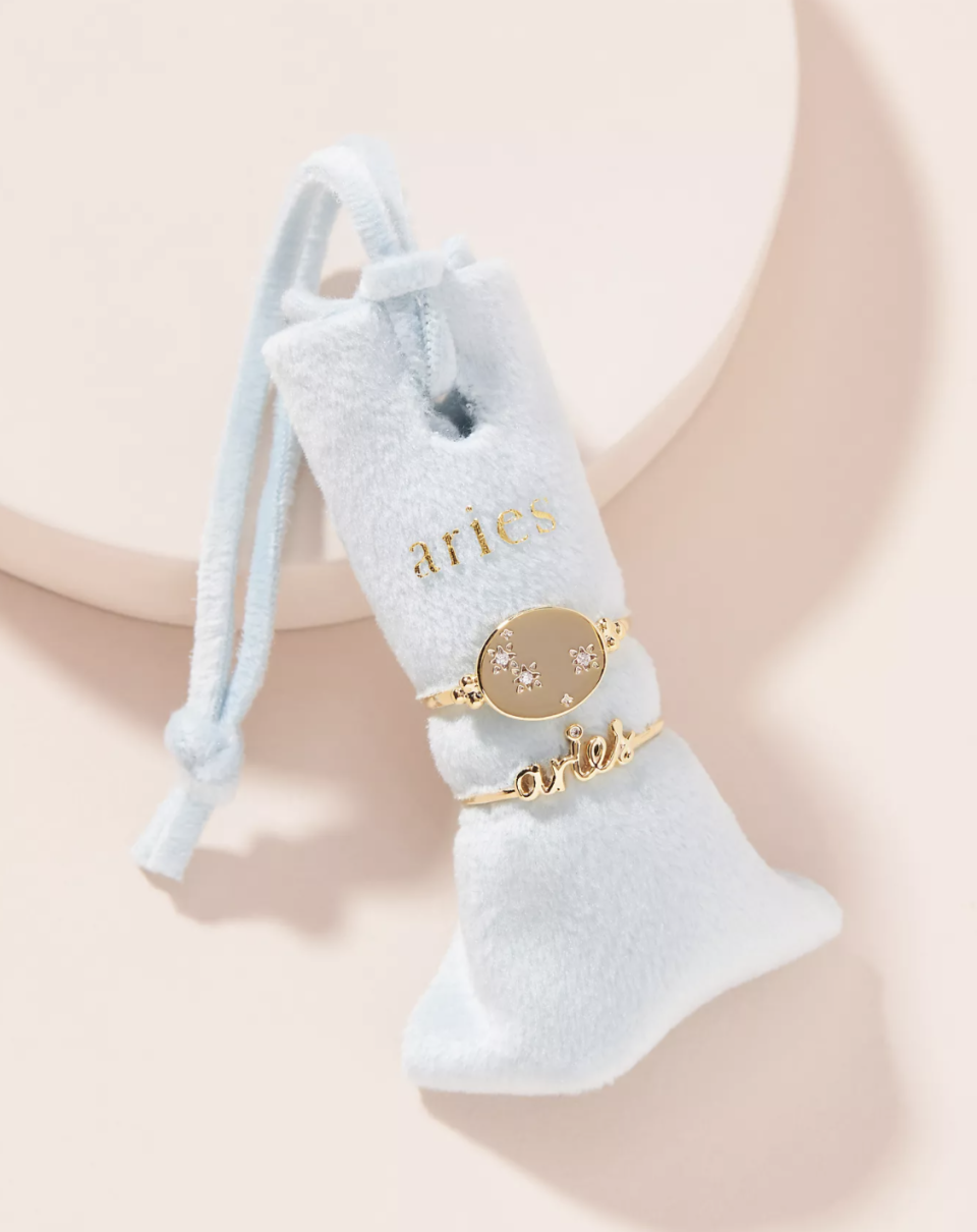 Zodiac Ring Set - Anthropologie, $