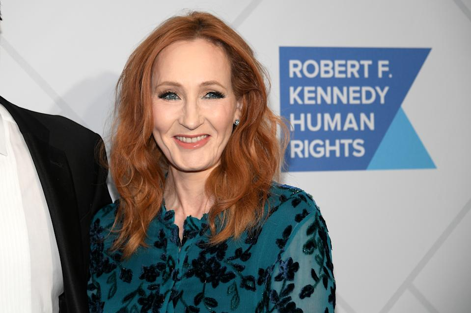 NEW YORK, NEW YORK - DECEMBER 12: Author J.K. Rowling arrives at the RFK Ripple of Hope Awards at New York Hilton Midtown on December 12, 2019 in New York City. (Photo by Dia Dipasupil/Getty Images)