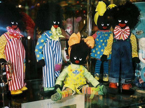 Golliwog dolls, based on a black fictional character that appeared in children's books in the late 19th century, are widely seen as an embodiment of racist stereotyping: Joe Miranda/Flickr