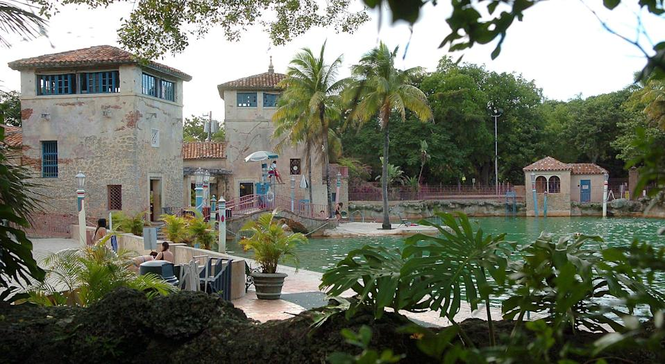 The 800,000-gallon Venetian Pool once served as a backdrop to sales pitches from politicians William Jennings Bryant about the virtues of owning Florida real estate.