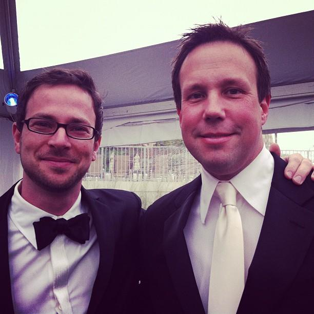Yahoo! News executives Guy Vidra and Rob Barrett at the White House Correspondents Dinner #whcd