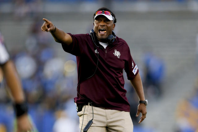 A Texas A&M regent called for Kevin Sumlin's job after the Aggies' stunning loss to UCLA. (Getty)