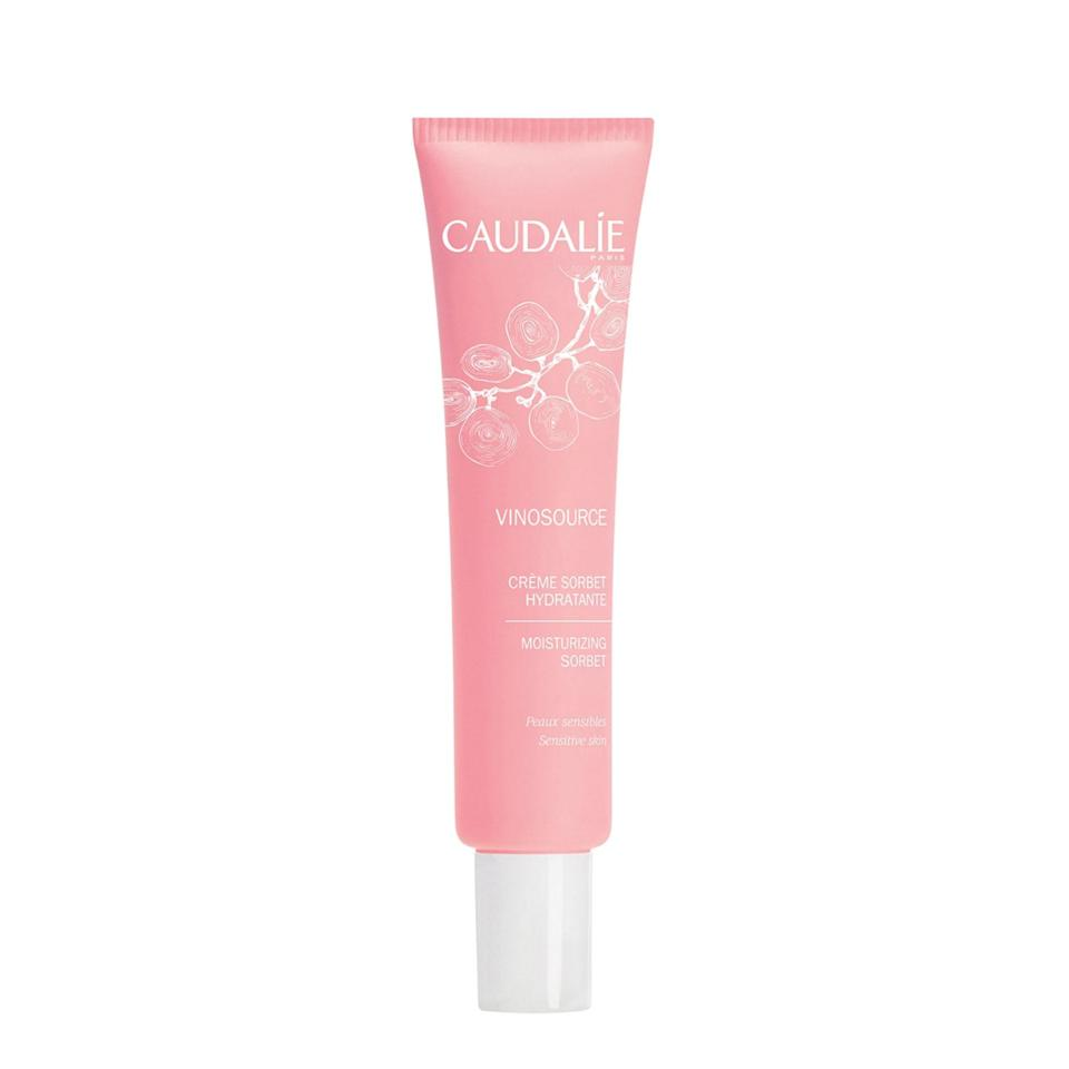 """<p>Between the chic pink tube, antioxidant-rich formula, and whipped texture there's not much we <em>don't</em> love about Caudalie's fan-favorite Vinosource Moisturizing Sorbet.</p> <p><strong>$39</strong> (<a href=""""https://shop-links.co/1650276356733001697"""" rel=""""nofollow noopener"""" target=""""_blank"""" data-ylk=""""slk:Shop Now"""" class=""""link rapid-noclick-resp"""">Shop Now</a>)</p>"""