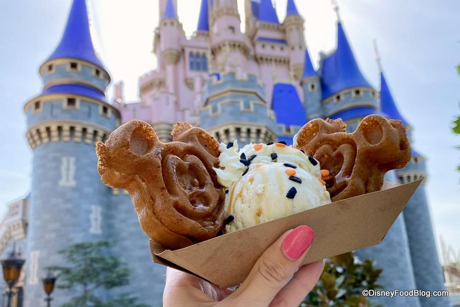 Pumpkin-spiced Mickey Waffle Sundae - Do try this at home.