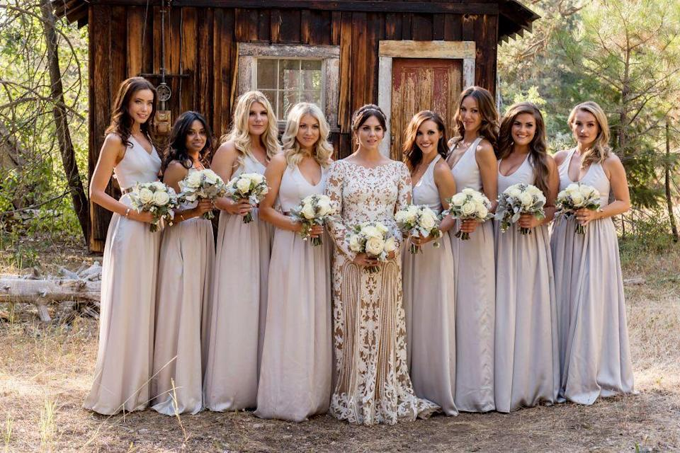 <p>In complete contrast to the trends of the past, by 2015, brides began opting for neutral bridesmaids dresses. Colors such as blush, sand, and stone became super popular.</p>
