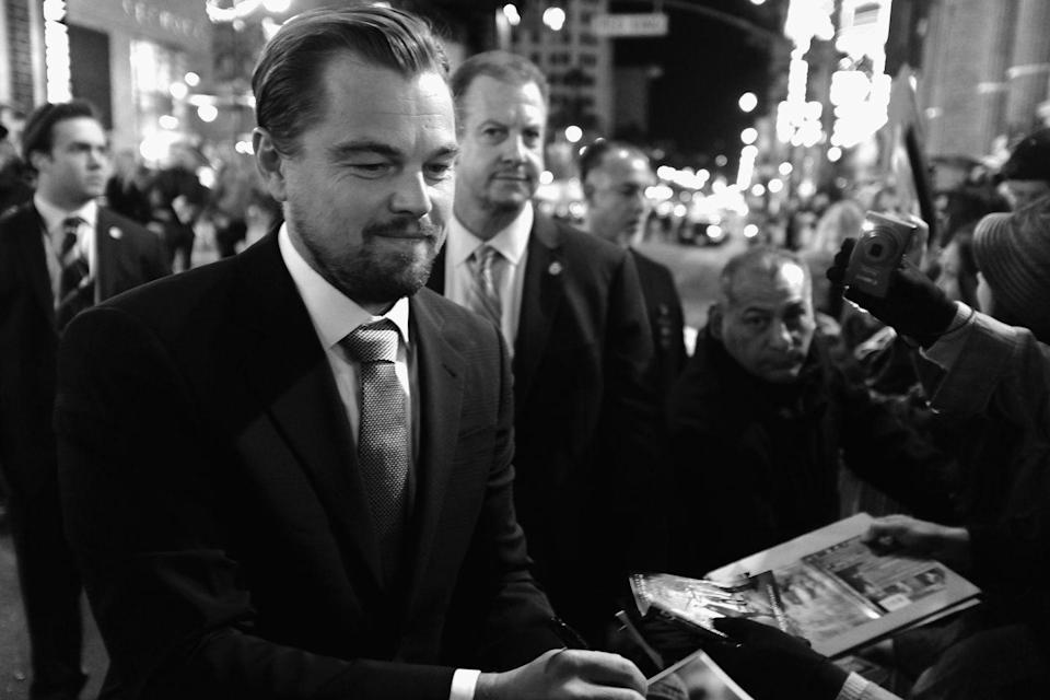 <p>When DiCaprio turned 40, he was promoting <em>The Revenant</em>, which earned him an Academy Award for best actor. </p>