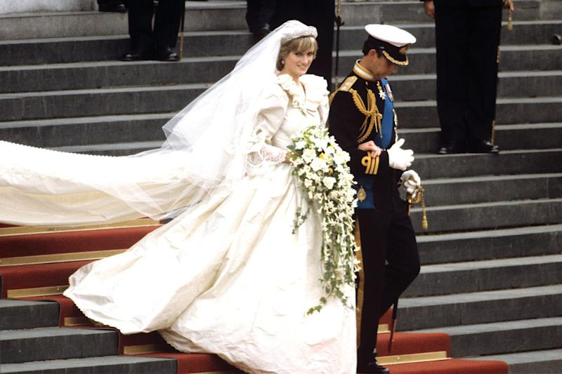 The pair were married in St. Paul's Cathedral, which was a break from the traditional Westminster Abbey wedding (St. Paul's had more seating).