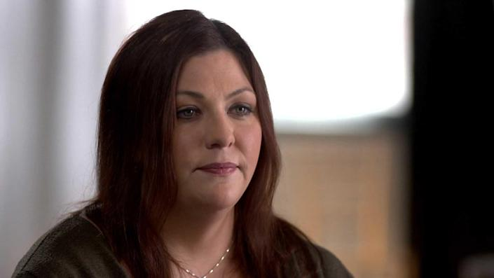 Michelle Chavez was the other woman Will Hargrove had been dating the whole time he'd been romancing Anna Repkina. When Michelle found out Anna had moved to Oregon to marry Will, she put her foot down. / Credit: CBS News