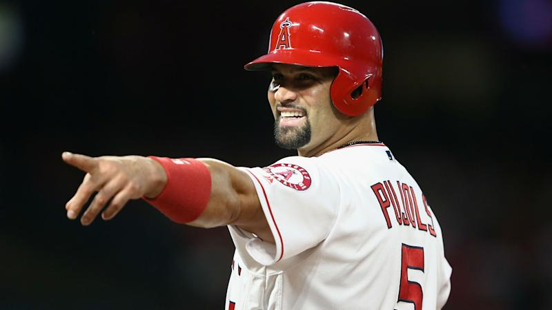 Albert Pujols' pursuit of 3,000 hits in the biggest storyline for the Angels this week. (AP)