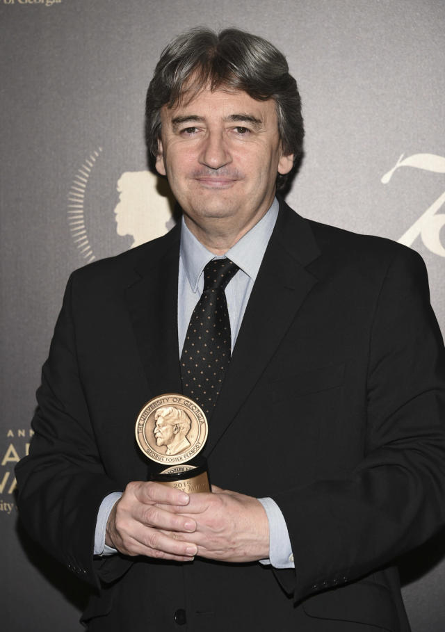 Fergal Keane poses with his award at the 75th Annual Peabody Awards Ceremony at Cipriani Wall Street on Saturday, May 21, 2016, in New York. Evan Agostini/Invision/AP)