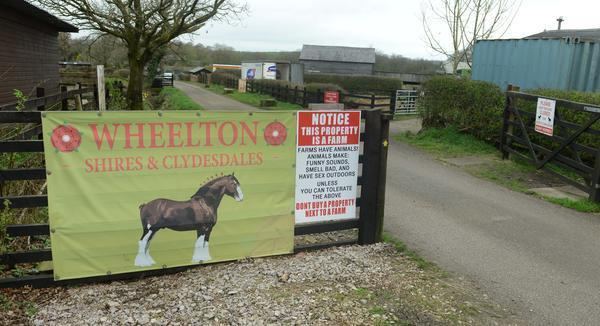 The brilliant sign was put up at Laneside Farm in Lancashire (SWNS)