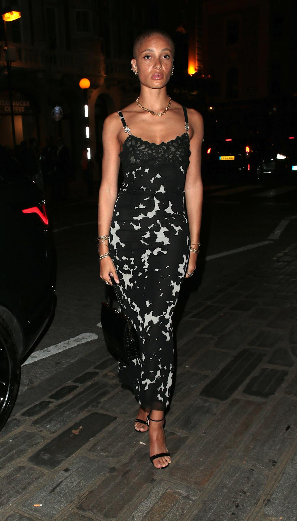 Adwoa Aboah seen attending the Fashion For Relief gala event during London Fashion Week [Photo: Getty Images]