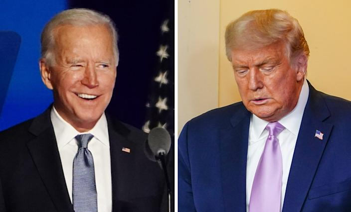 The world is happier with the US under Joe Biden than Donald Trump (EPA)