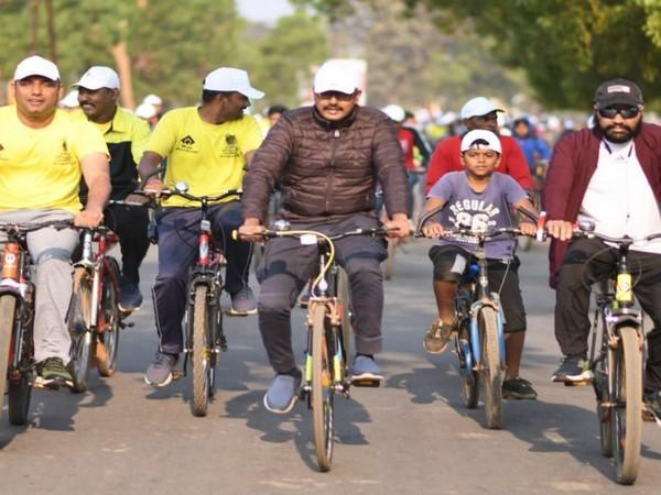Cycle rally was organised in Narayanpur to promote 3rd edition of Abujhmad Peace Marathon