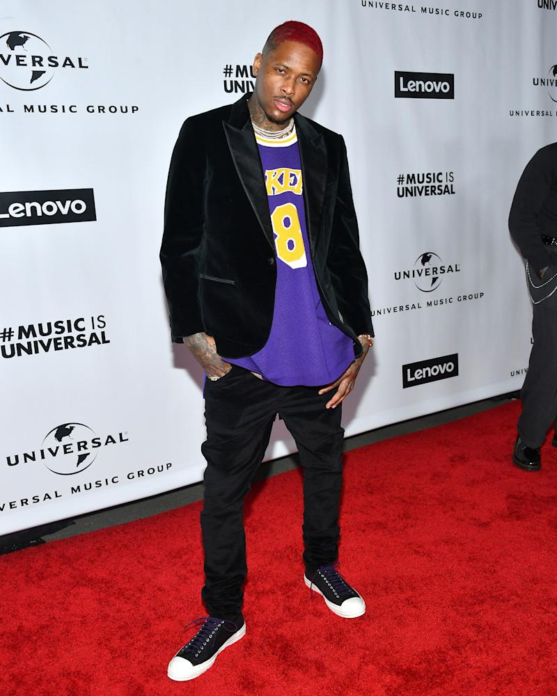 YG's Red Carpet Outfit Paid Tribute to Kobe Bryant