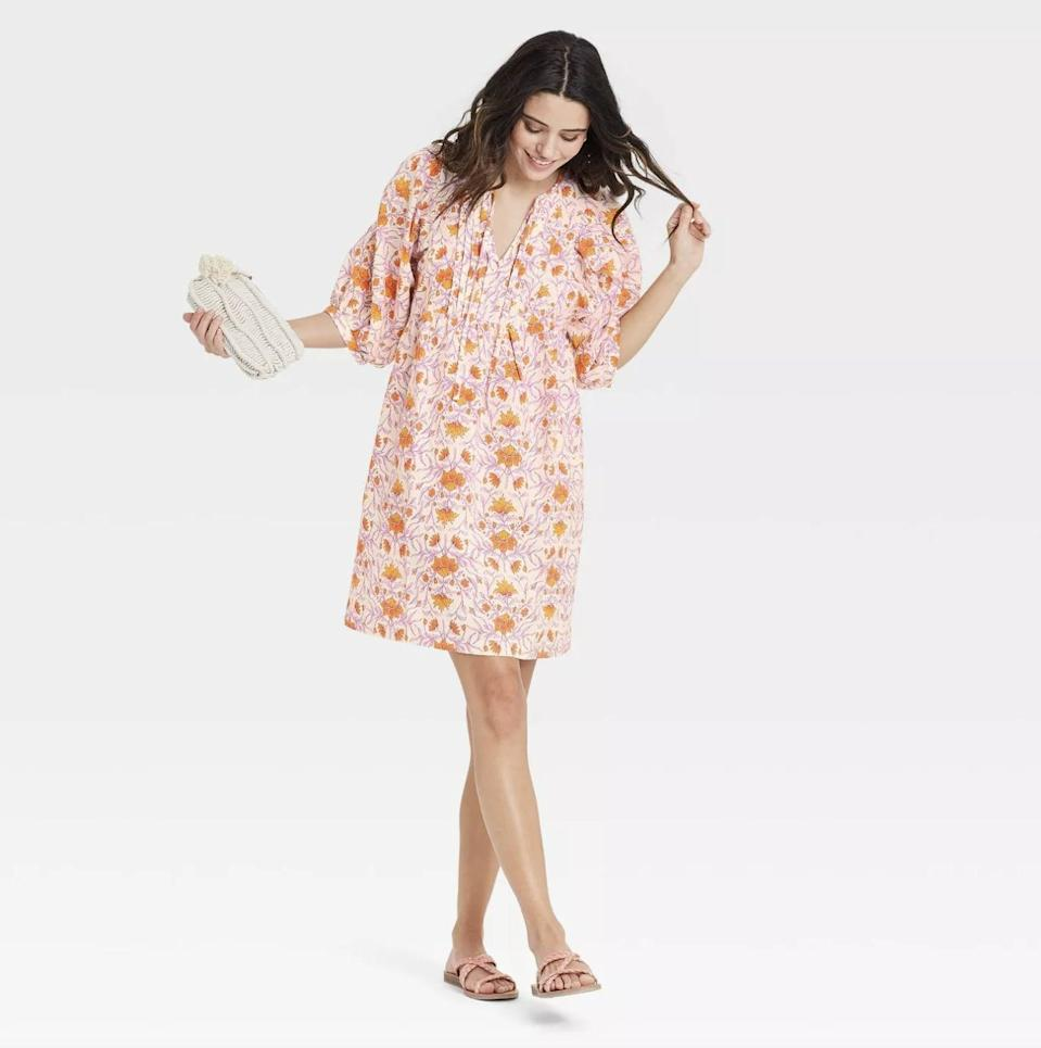 <p>Add this <span>Universal Thread Puff Elbow Sleeve Babydoll Dress</span> ($25) to your closet, which is a warm-weather staple with a timeless silhouette.</p>