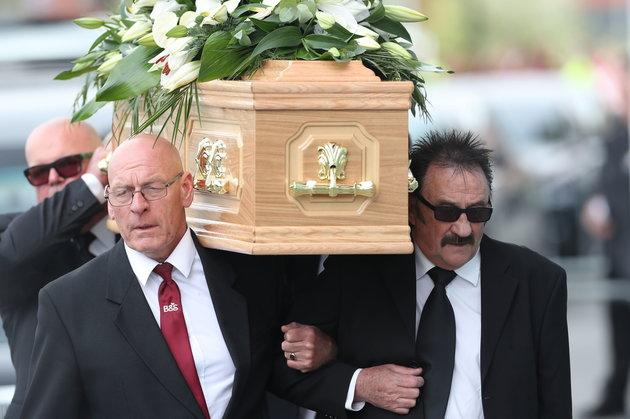 Paul Chuckle carried his brother's coffin