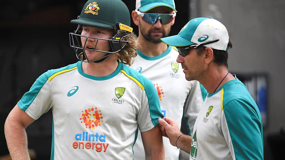 Justin Langer is disappointed players weren't able to bring their concerns directly to him. (Photo by WILLIAM WEST/AFP via Getty Images)