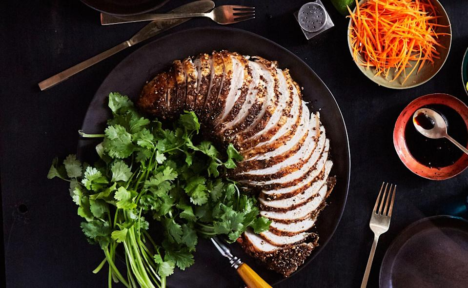 """<a href=""""https://www.bonappetit.com/recipe/pastrami-style-grilled-turkey-breast?mbid=synd_yahoo_rss"""" rel=""""nofollow noopener"""" target=""""_blank"""" data-ylk=""""slk:See recipe."""" class=""""link rapid-noclick-resp"""">See recipe.</a>"""