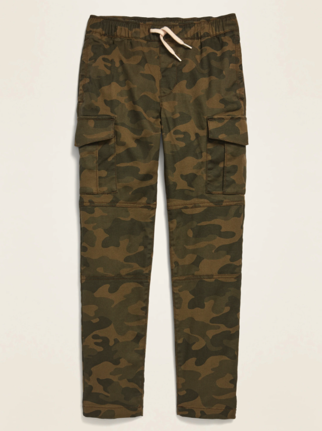 Relaxed Slim Taper Pull-On Cargo Pants for Boys. Image via Old Navy.