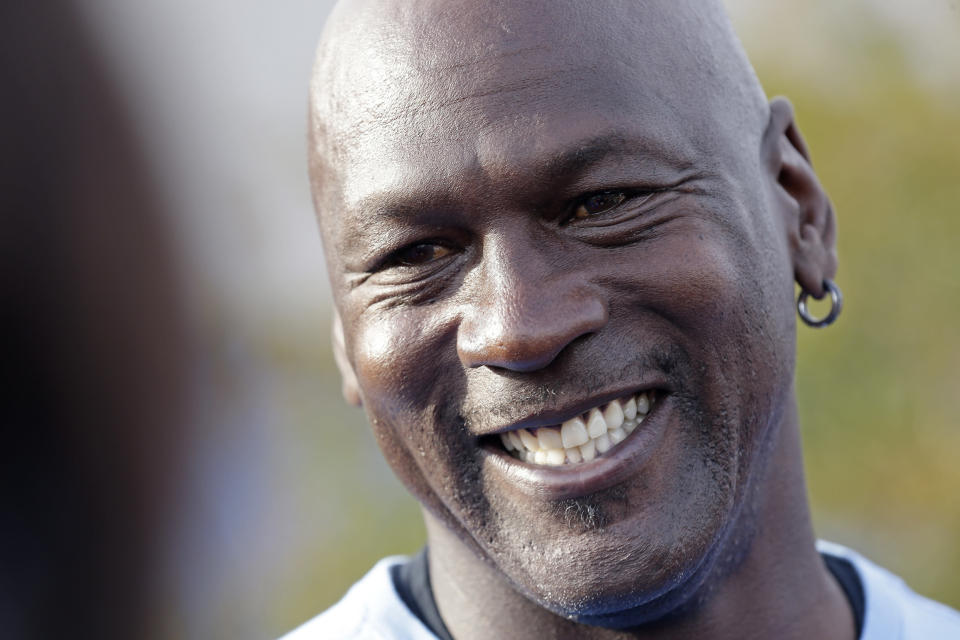 A rare Michael Jordan card sold for over $350,000. (AP Photo)