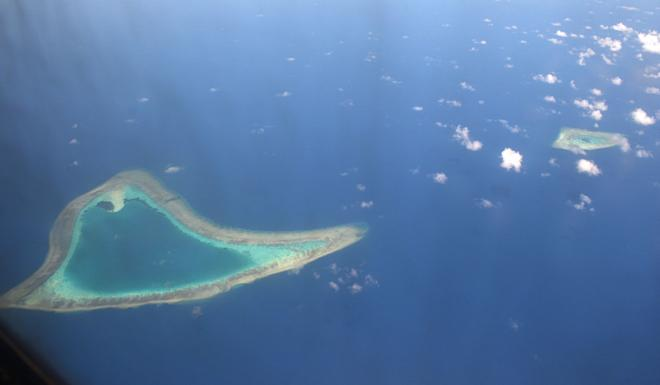 Vanguard Bank is the westernmost reef in the resource-rich Spratly Islands. Photo: AFP
