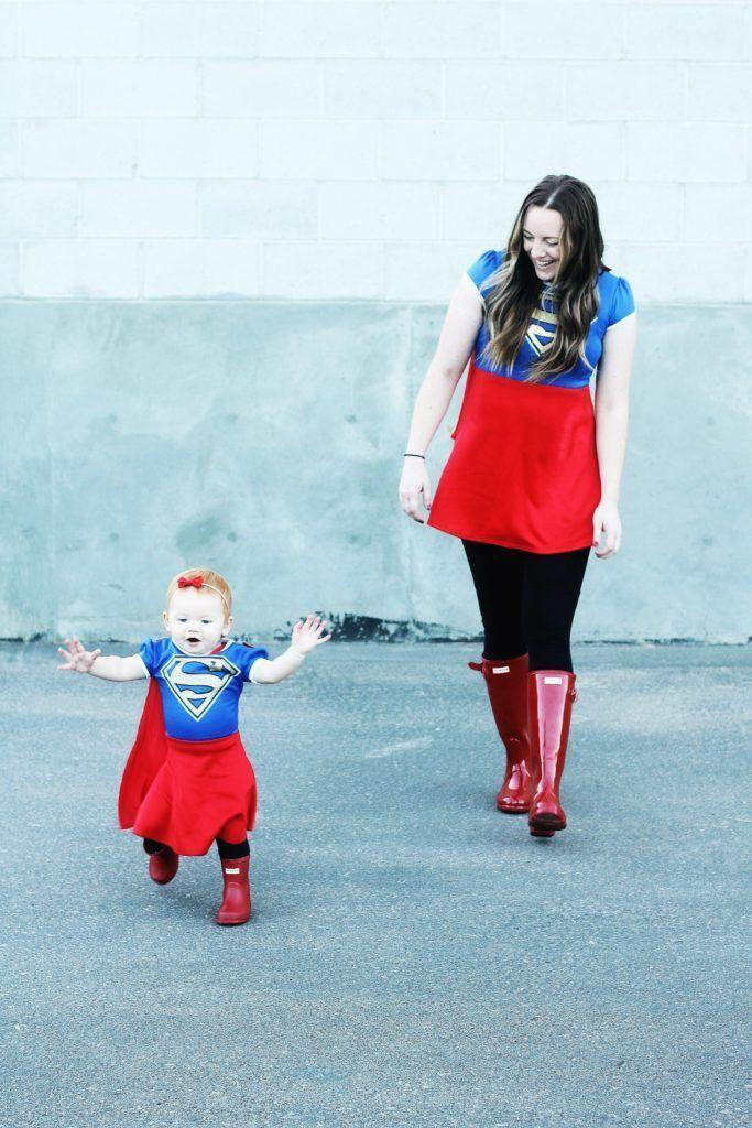 """<p>Kryptonite's got nothing on the most invincible dynamic duo this Halloween. </p><p><strong>Get the tutorial at <a href=""""https://www.jessoakes.com/blog/2016/09/30/mommy-me-costumes/"""" rel=""""nofollow noopener"""" target=""""_blank"""" data-ylk=""""slk:Positively Oakes"""" class=""""link rapid-noclick-resp"""">Positively Oakes</a>. </strong></p><p><strong><a class=""""link rapid-noclick-resp"""" href=""""https://www.amazon.com/DC-Comics-Womens-Superman-T-Shirt/dp/B00GK7MRHG/?tag=syn-yahoo-20&ascsubtag=%5Bartid%7C10050.g.28181767%5Bsrc%7Cyahoo-us"""" rel=""""nofollow noopener"""" target=""""_blank"""" data-ylk=""""slk:SHOP SUPERGIRL SHIRTS"""">SHOP SUPERGIRL SHIRTS</a><br></strong></p>"""