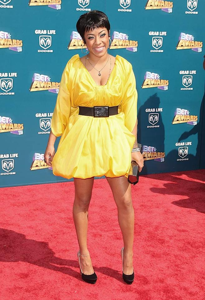 "Keyshia Cole debuted a cute new 'do along with a sexy, summery yellow cocktail dress. Jason Merritt/<a href=""http://www.filmmagic.com/"" target=""new"">FilmMagic.com</a> - June 24, 2008"