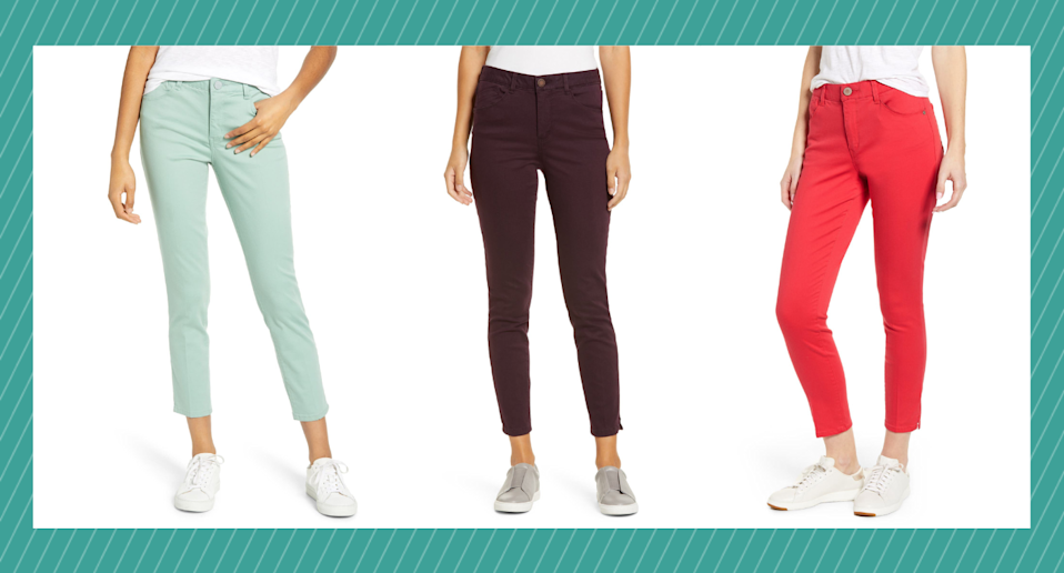 The top-rated Wit & Wisdom Ab-Solution High Waist Ankle Skinny Pants are a Nordstrom fan favourite - and they're 40% off.