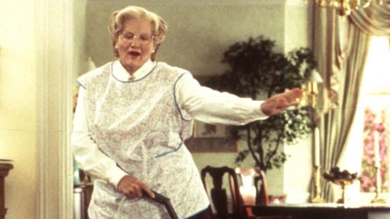 Robin Williams in Mrs Doubtfire (Credit: 20th Century Fox)