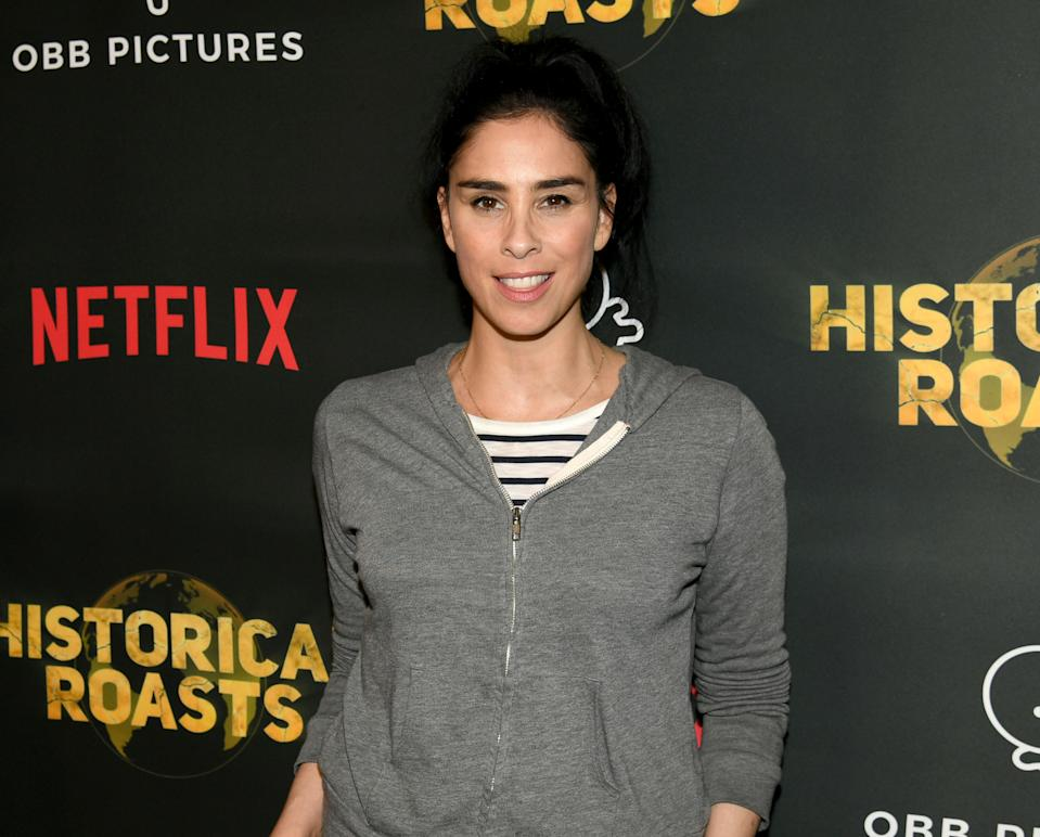 """LOS ANGELES, CALIFORNIA - MAY 20: Sarah Silverman arrives at the premiere party for the OBB Pictures and Netflix Original Series """"Historical Roasts"""" featuring Jeff Ross at Landmark Theatre on May 20, 2019 in Los Angeles, California. (Photo by Kevin Winter/Getty Images)"""