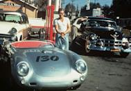 """<p>While at the peak of his career, Dean passed away in 1955 after crashing his Porsche Spyder, which he nicknamed """"Little Bastard,"""" on the highway. Dean was pronounced dead at the scene after suffering injuries in the crash. His final two films were released after his death and he was the first actor to earn an Academy Award nomination post-humous. </p>"""