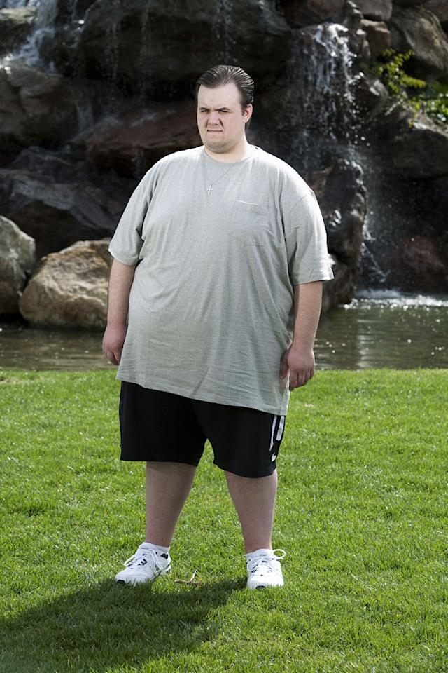 "Alex, 23, at 459 pounds as seen on ""Extreme Makeover: Weight Loss Edition."""