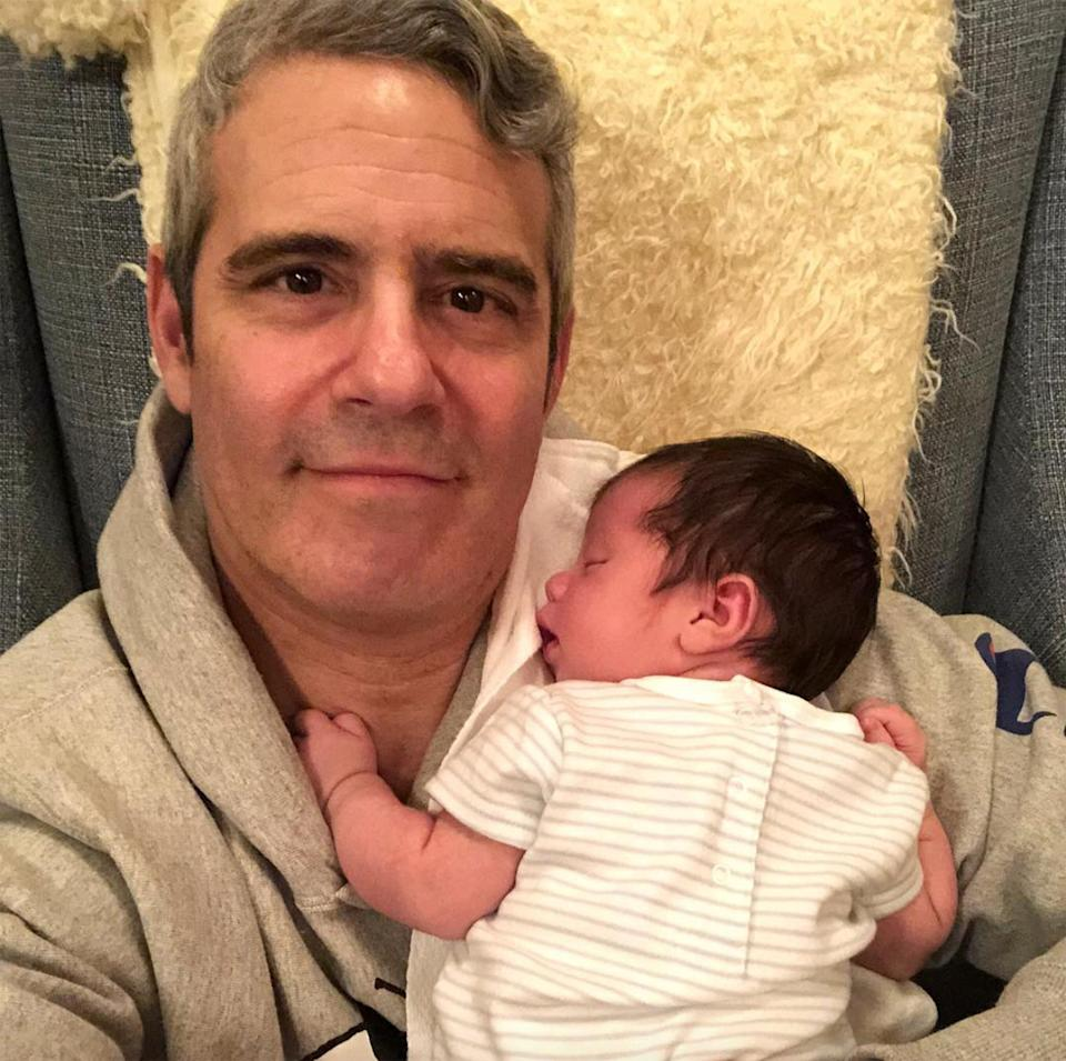 """In his caption to this Instagram, Cohen apologized for """"oversharing about the baby"""" — <a href=""""https://www.instagram.com/p/BuKbvCSl-cw/"""" rel=""""nofollow noopener"""" target=""""_blank"""" data-ylk=""""slk:but we hope he never stops"""" class=""""link rapid-noclick-resp"""">but we hope he never stops</a>."""
