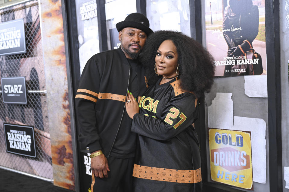 Photo by: NDZ/STAR MAX/IPx 2021 7/15/21 Omar Epps and Keisha Epps at the premiere of 'Power Book III: Raising Kanan' Global Premiere Event And Screening In New York City.