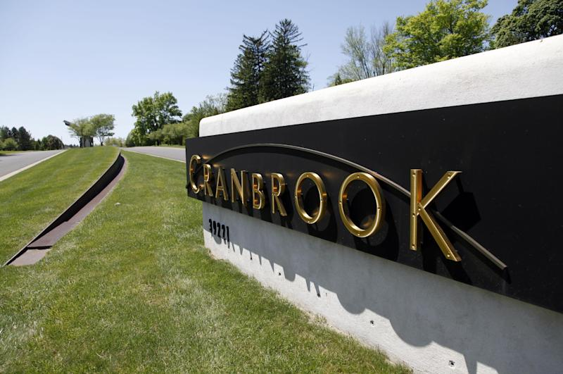 """An entrance to Cranbrook is shown in Bloomfield Hills, Mich., Friday, May 11, 2012. Mitt Romney apologized Thursday for """"stupid"""" high school pranks that may have gone too far and moved quickly to stamp out any notion that he bullied schoolmates at the exclusive Cranbrook school in Bloomfield Hills, Mich., because they were gay. His swift response reflected the Republican presidential candidate's recognition that his record on gay rights is under heightened scrutiny following President Barack Obama's embrace of gay marriage. (AP Photo)"""