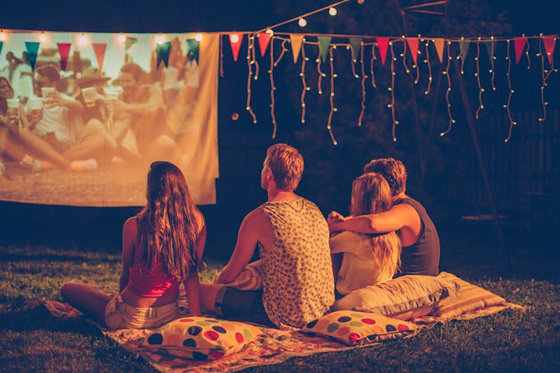 Fresh air, night skies and a movie: It doesn't get much better than this. (Photo: Getty Images)