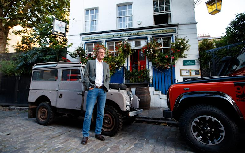 Sir Jim Ratcliffe revealed plans for the car at a pub called The Grenadier, where he first came up with the idea