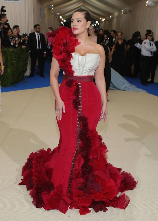 <p>Graham collaborated with H&M on this costume gown for the Comme des Garcons-themed Met Gala. (Photo: Getty Images) </p>