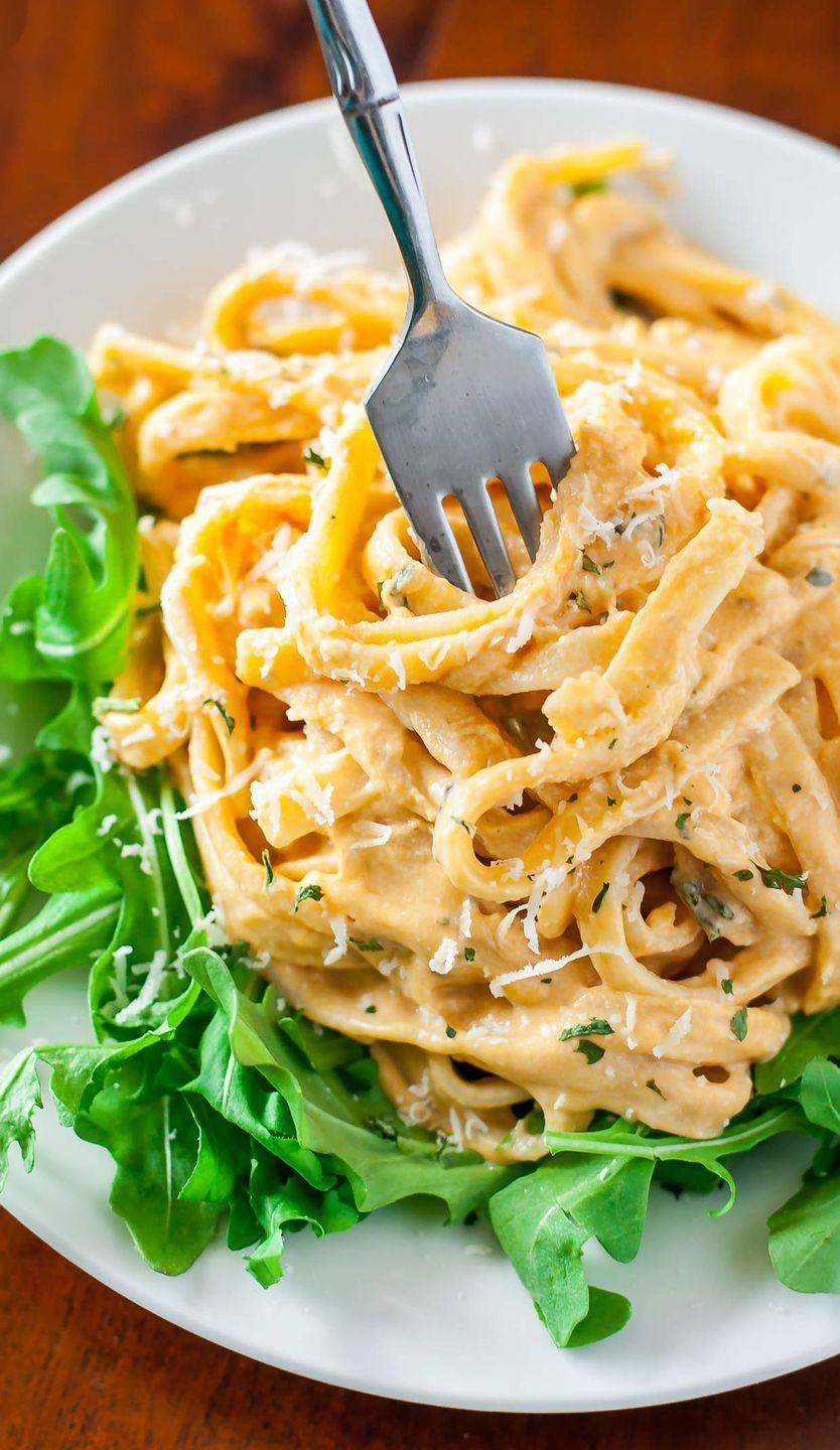 """<p>The family will line up for seconds (maybe even thirds!) after a helping of this superbly creamy meal.<br></p><p><strong>Get the recipe at <a href=""""https://peasandcrayons.com/2015/11/sweet-potato-alfredo.html"""" rel=""""nofollow noopener"""" target=""""_blank"""" data-ylk=""""slk:Peas and Crayons"""" class=""""link rapid-noclick-resp"""">Peas and Crayons</a>.</strong> </p>"""