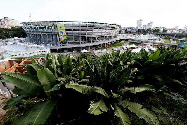 SALVADOR, BRAZIL - JUNE 22: A general view prior to the FIFA Confederations Cup 2013 Group A match between Italy and Brazil at Estadio Octavio Mangabeira (Arena Fonte Nova Salvador) on June 22, 2013 in Salvador, Brazil. (Photo by Scott Heavey/Getty Images)