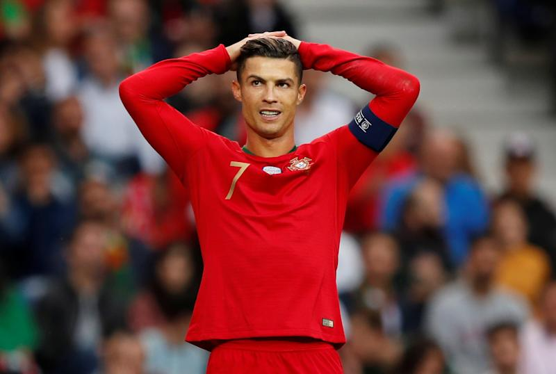 Soccer Football - UEFA Nations League Semi Final - Portugal v Switzerland - Estadio do Dragao, Porto, Portugal - June 5, 2019 Portugal's Cristiano Ronaldo reacts REUTERS/Rafael Marchante