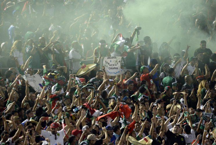 Mexico defeated USA 3-2 at the Rose Bowl in front of a partisan Mexican crowd. (Getty Images)
