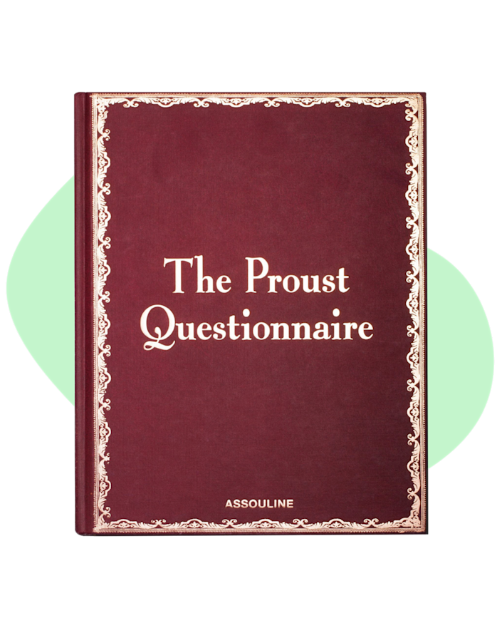 """The Proust Questionnaire book is a great book for those who love personality! The range of interviews showcase the fun intelligent spirit of those being questioned, and it also comes with a few new blank questionnaires in the back to spark wide-ranging conversation. $50, Amazon. <a href=""""https://www.assouline.com/products/olympia-le-tan-x-assouline-book-clutch-proust-questionnaire"""" rel=""""nofollow noopener"""" target=""""_blank"""" data-ylk=""""slk:Get it now!"""" class=""""link rapid-noclick-resp"""">Get it now!</a>"""