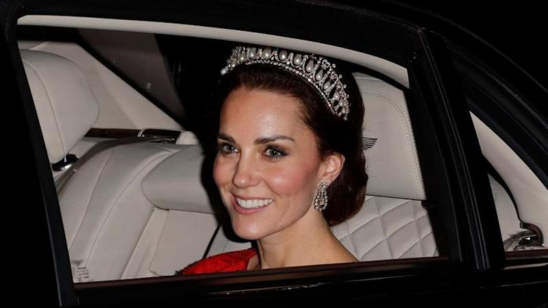Kate looks radiant in a tiara. Photo: Getty Images