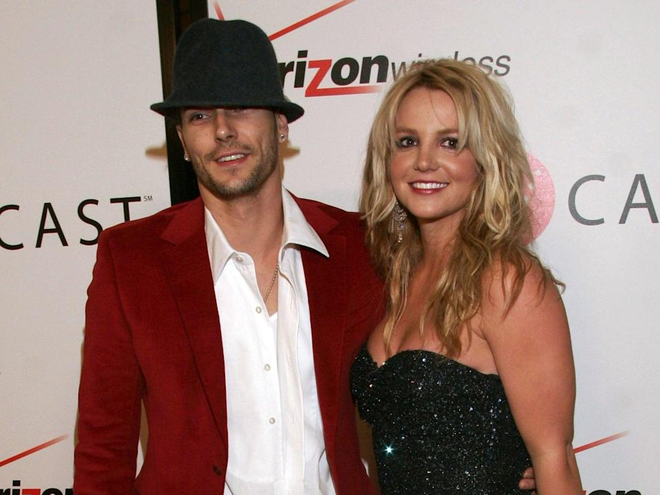 Britney Spears and Kevin Federline at a Grammy nominees party on 6 February 2006 in Hollywood, California (Matthew Simmons/Getty Images for Rolling Stone)
