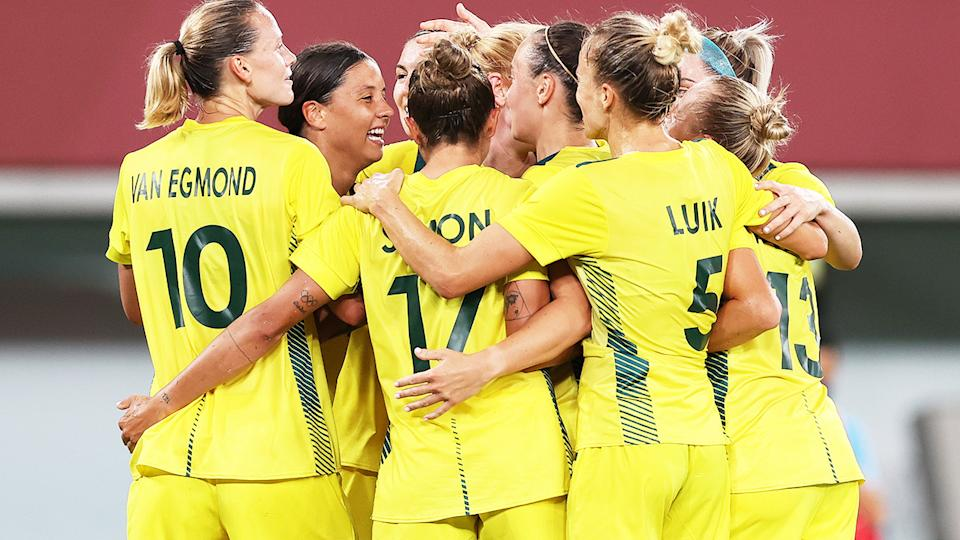 The Matildas, pictured here in action against New Zealand at the Tokyo Olympics.