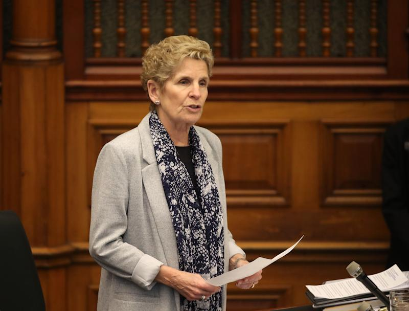 MPP Kathleen Wynne speaks during Question Period at Queen's Park in Toronto, Ont. on March 5, 2020.  (Photo: Steve Russell via Getty Images)